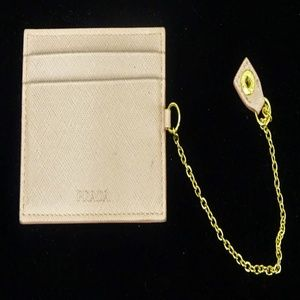 PRADA AUTHENTIC Pink Card & ID Holder PRICED CHEAP